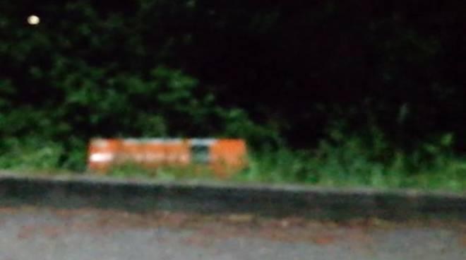 autovelox di via ravona san fermo abbattuto dai vandali