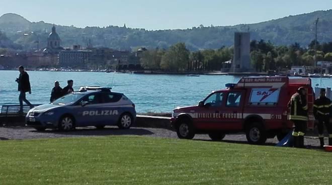 donna annegata villa olmo soccorsi dei pompieri