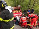 incidente lanzo intelvi ragazza nel burrone con la bicicletta soccorsa saf ponmpieri