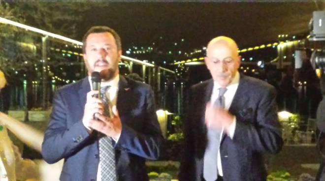 La visita a Como del Miniustro dell'Interno Matteo Salvini