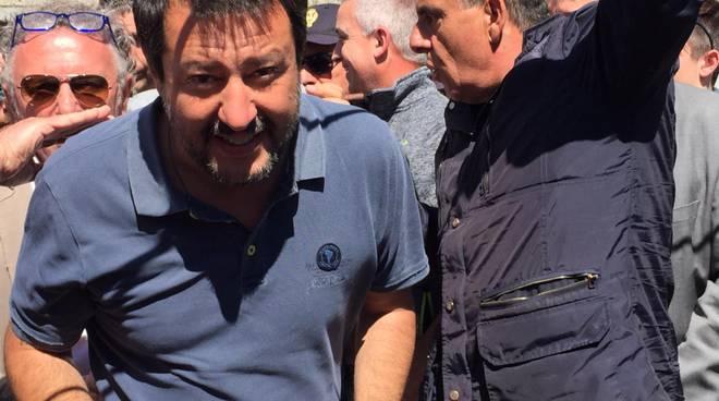 La visita di Matteo Salvini oggi a Cantù per lanciare la squadra delle amministrative di maggio