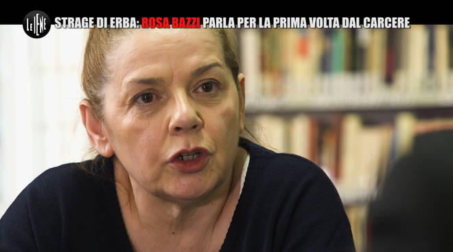 rosa bazzi intervistata dalle iene Italia 1 per la strage di erba carcere bollate