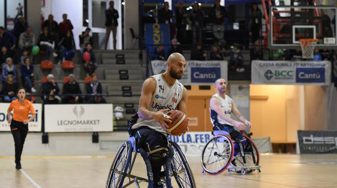 unipolsai basket carrozzina semifinale play off contro porto torres