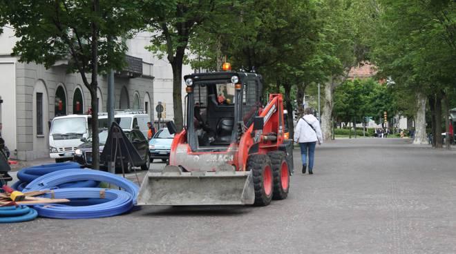asfalti per giro d'italia intervento viale battisti
