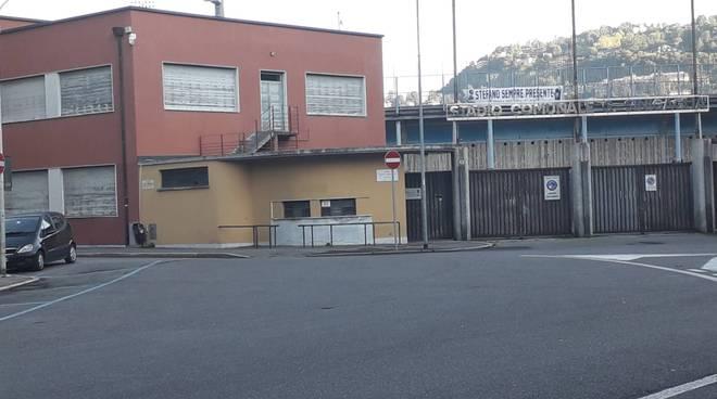 como stadio sinigaglia zona blindata per il derby di calcio tra como e lecco