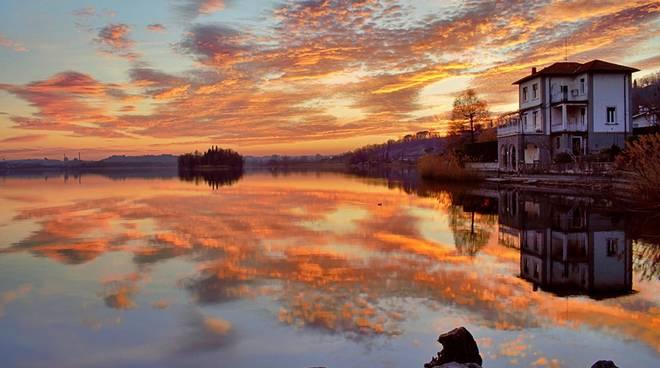 due tramonti un uno sul lago di pusiano con Marco Gugiatti