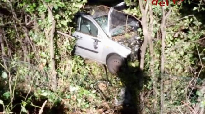 incidente notte carimate auto fuori strada dopo frontale