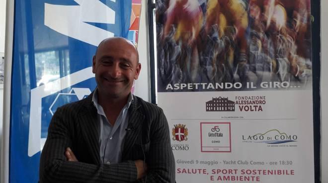 paolo bettini a como convegno yacht club per il giro d'italia