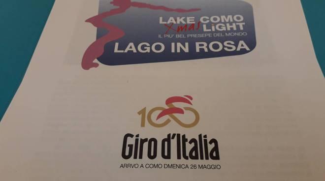 presentazione lago in rosa con como turistica brunati guerra camera commercio