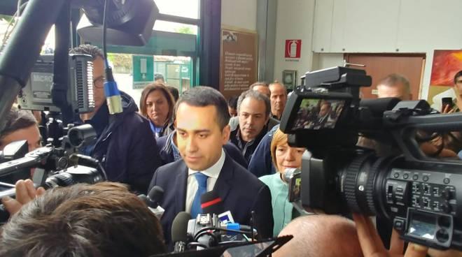 vice premier di maio oggi a carugo sede di drappobianco per incontro imporenditori