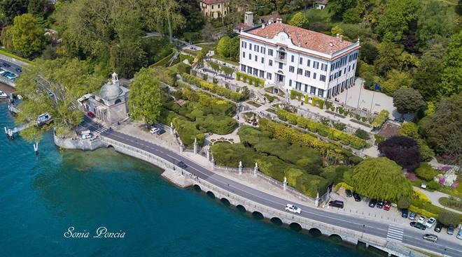 villa carlotta ripresa dal drone regina e giardini