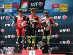 civ superbike imola team motocorsa, podio per russo