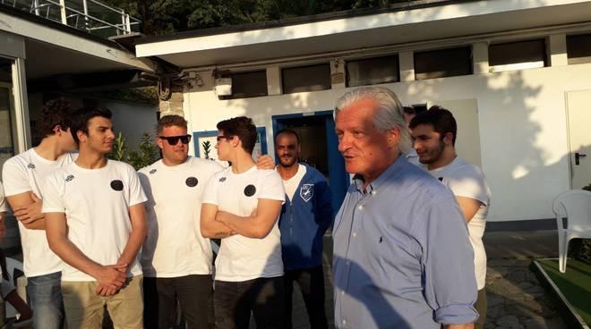 comonuoto maschile saluta presidente bulgheroni e società fine stagione sede viale geno