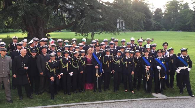 Festa polizia locale di Como per i 150 anni a Villa Olmo