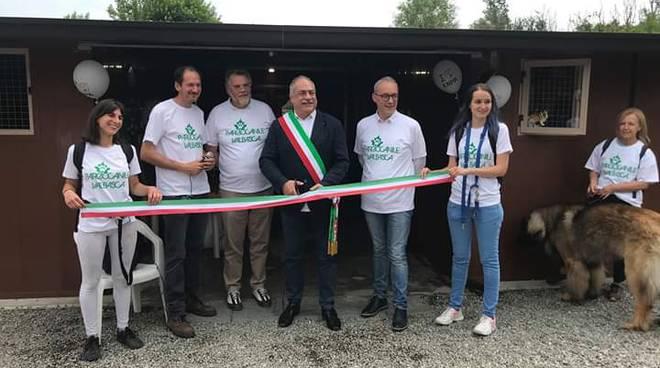 Inaugurazione padiglione canile di Como distrutto dalle fiamme nel 2018