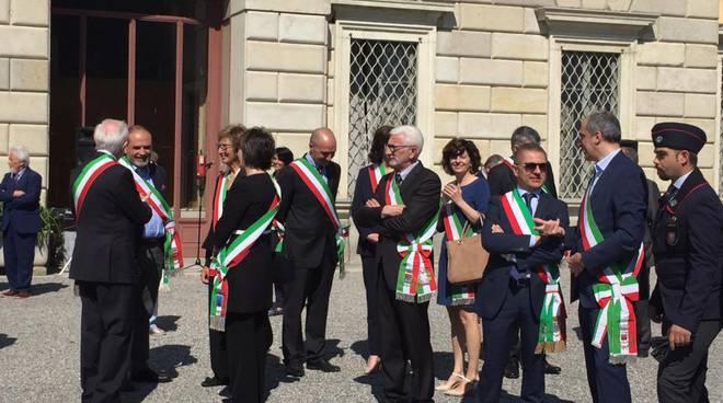 La cerimonia del 2 giugno nel parco di Villa Olmo a Como