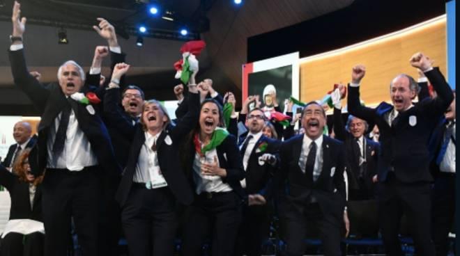 olimpiedi invernali 2026 assegnazione a milano cerimonia a losanna cio