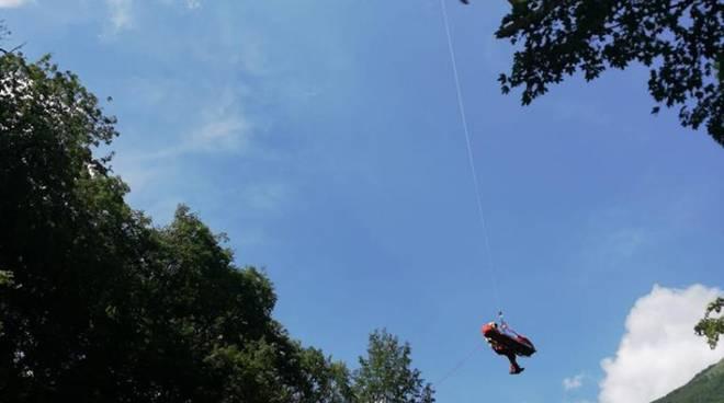soccorso alpino recupero escursionista di saronno bosco val perlana ossuccio