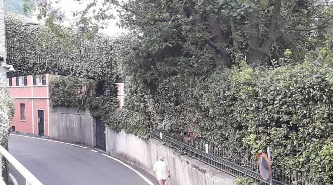 villa oleandra laglio esterno e zona del parcheggio