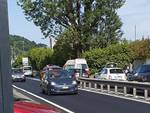 incidente di via asiago tavernola ambulanza soccorso ciclista ferito a terra