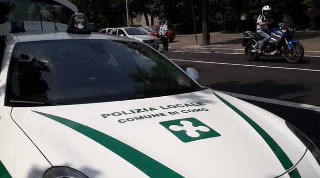 polizia locale di como controllo strade telelaser velocità