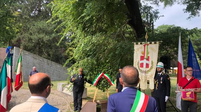 cerimonia ricordo vittime hiroshima monumento resistenza europea di como stamanttina