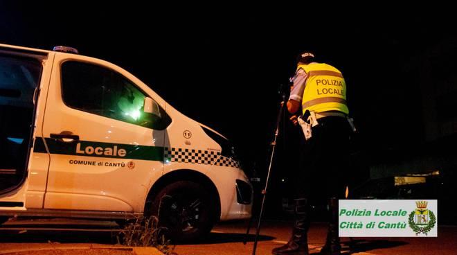 controlli strade di cantù mercoledì sera telelaser e verifiche polizia locale