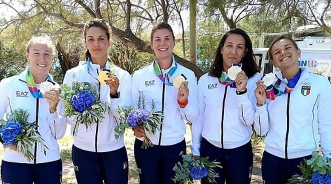 giorgia pelacchi Lario medaglia d'oro giochi del mediterraneo di canottaggio