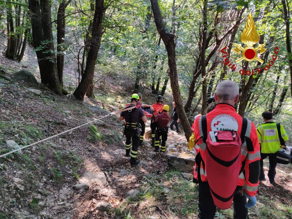 intervento soccorso 118 e saf pompieri a magreglio località alpetto persone crisi diabetica