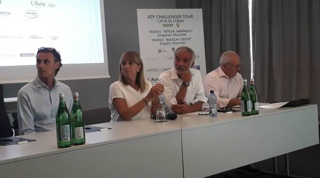 presentazione challenger di como tennis 2019 hilton di como organizzatori assessore galli