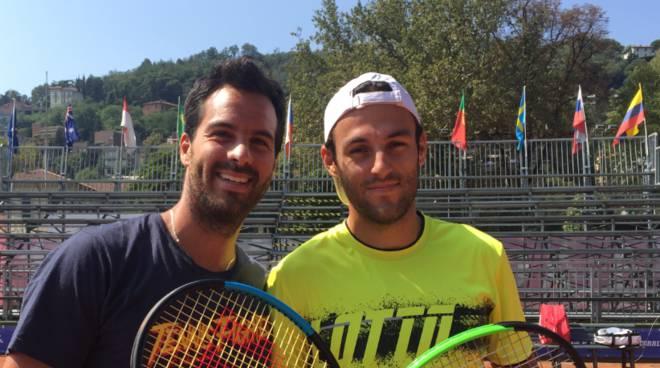 tennis challenger di como i due favoriti in campo caruso e travaglia