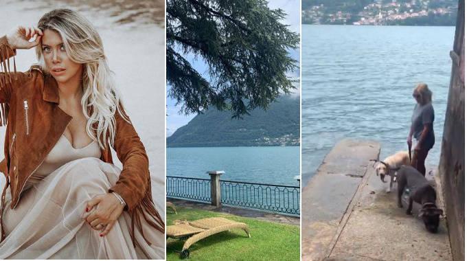 wanda nara lago foto notizia