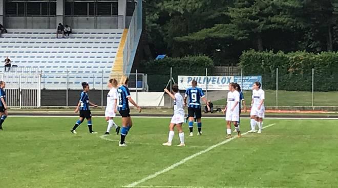 acf como calcio femminile amichevole contro Inter a cantù