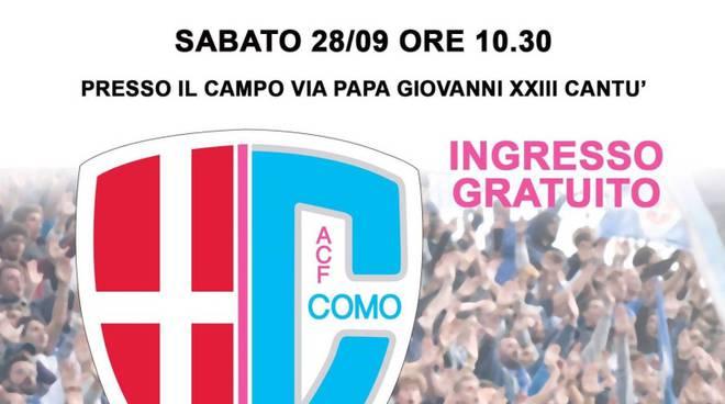 acf como calcio femminile locandina amichevole con Inter a cantù