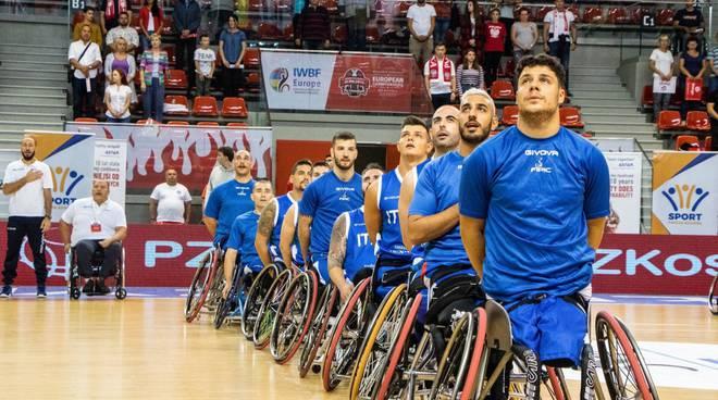 europei di basket in carrozzina in polizia con cinque ragazzi briantea uniolsai