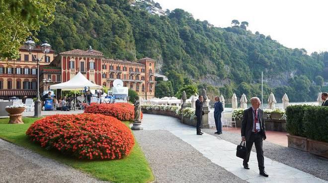 forum ambrosetti villa d'este di Cernobbio generica da alto e partecipanti