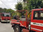 incendio tetto e canna fumaria capanna cao a brunate intervento dei pompieri