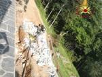incidente a san bartolomeo val cavargna, operaio travolto da un muro di cemento