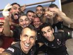 las palmas calcio a 5 debutto in coppa lombardia con vittoria selfie squadra a fine gara