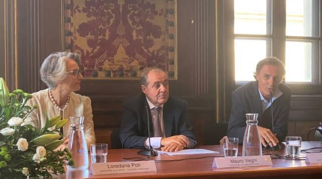 marco galli presentazione giro di lombardia di ciclismo 2019 a bergamo