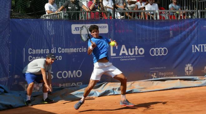 tennis como semifinale challenger villa Olmo pubblico martin e mena
