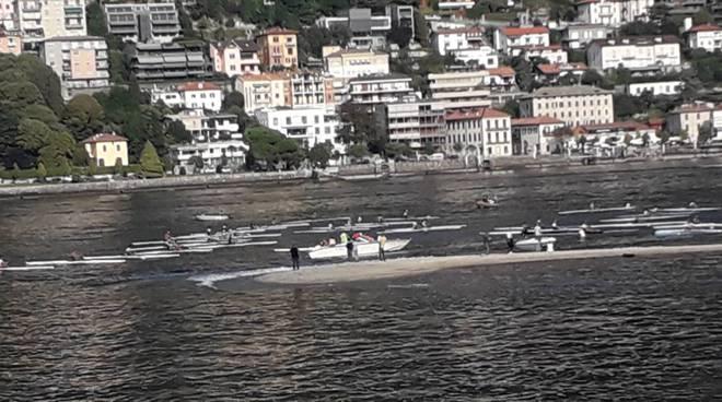 trofeo villa d'este sul lago di como partenza delle barche ed arrivo