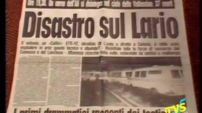 32 anni fa incidente aereo atr 42 conca di crezzo foto giornale epoca e monumento