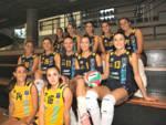 albesevolley squadra scatti in palestra ragazze vigilia del campionato