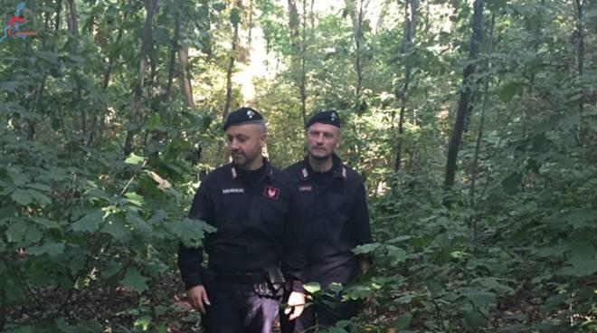 carabinieri trovano nel bosco pensionato appiano disperso da ore, militari ricerche