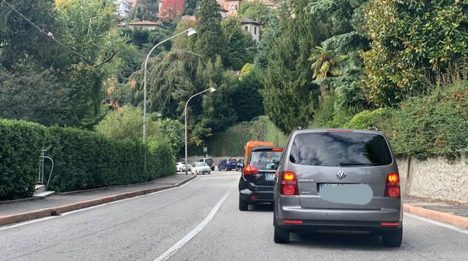 chiusura via bixio como per taglio piante strada bloccata e code via bellinzona