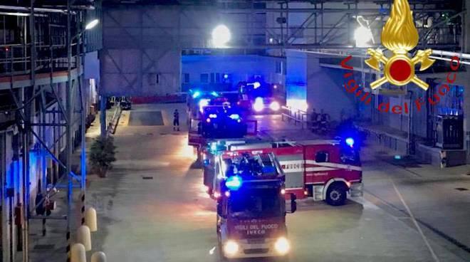 henkel lomazzo intervento pompieri nella notte per sistemazione valvola bloccasta