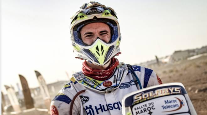 jacopo cerutti pilota montorfano al rally del marocco 2019 con moto