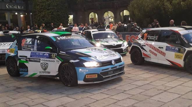rally aci como 2019 riordino piazza cavour auto e piloti