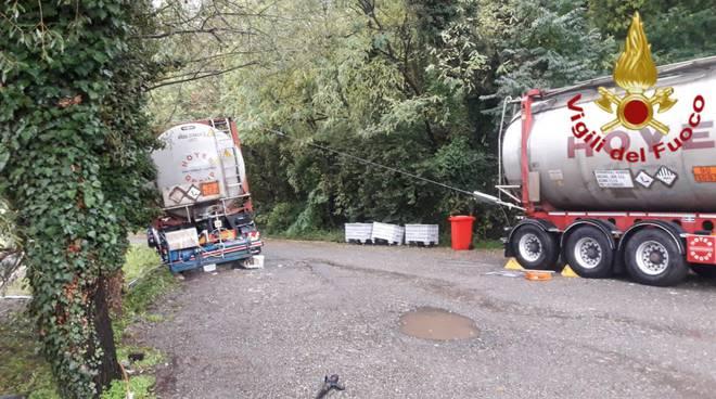 travaso liquido infiammabile da una cisterna ad un'altra a cassina rizzardi